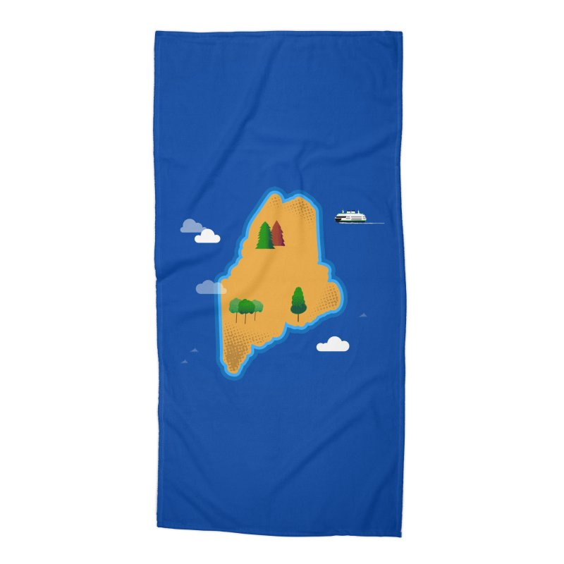 Maine Island Accessories Beach Towel by Illustrations by Phil