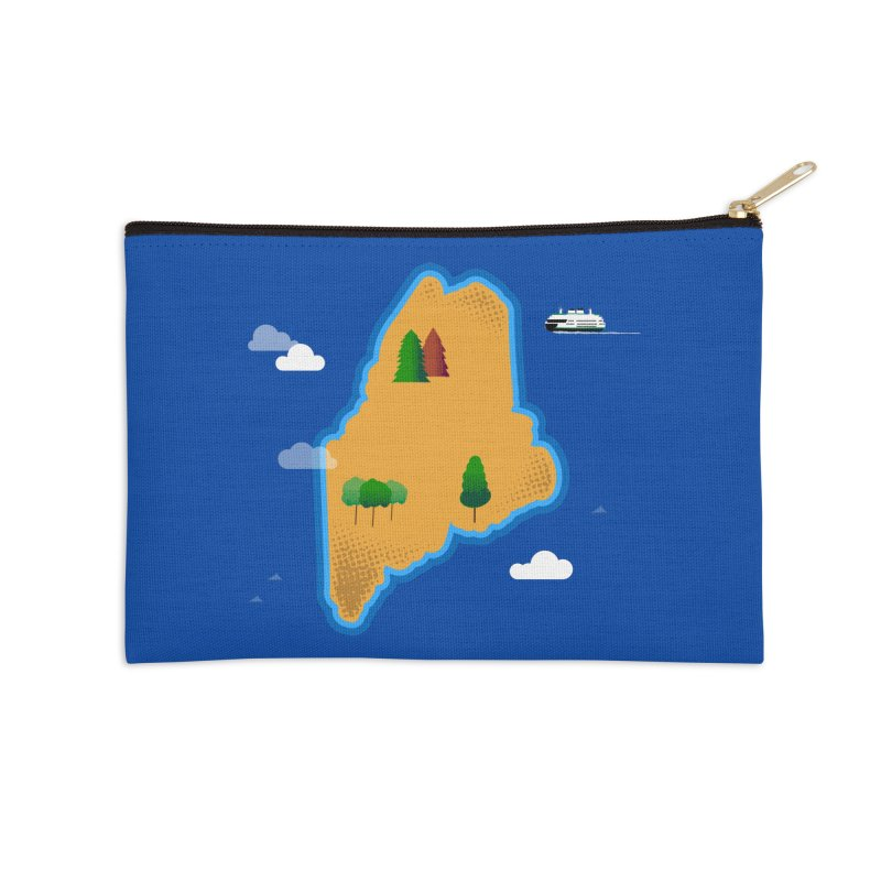 Maine Island Accessories Zip Pouch by Illustrations by Phil