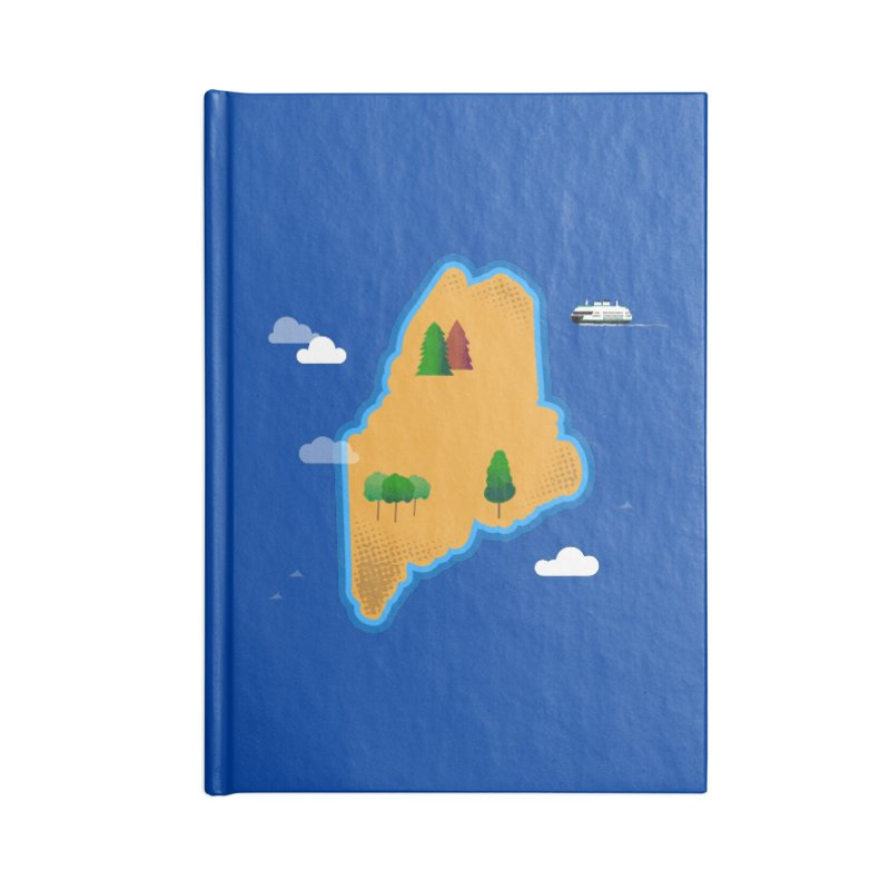 Maine Island Accessories Lined Journal Notebook by Illustrations by Phil