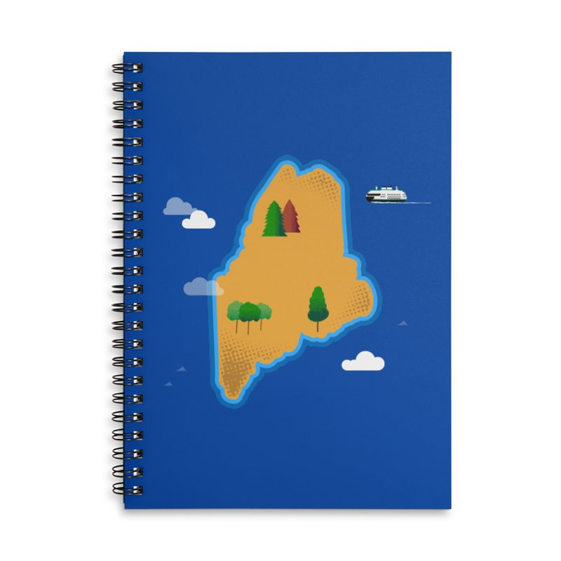 Maine Island Accessories Lined Spiral Notebook by Illustrations by Phil