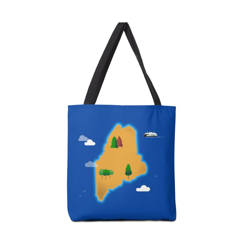 Maine Island Accessories Tote Bag Bag by Illustrations by Phil