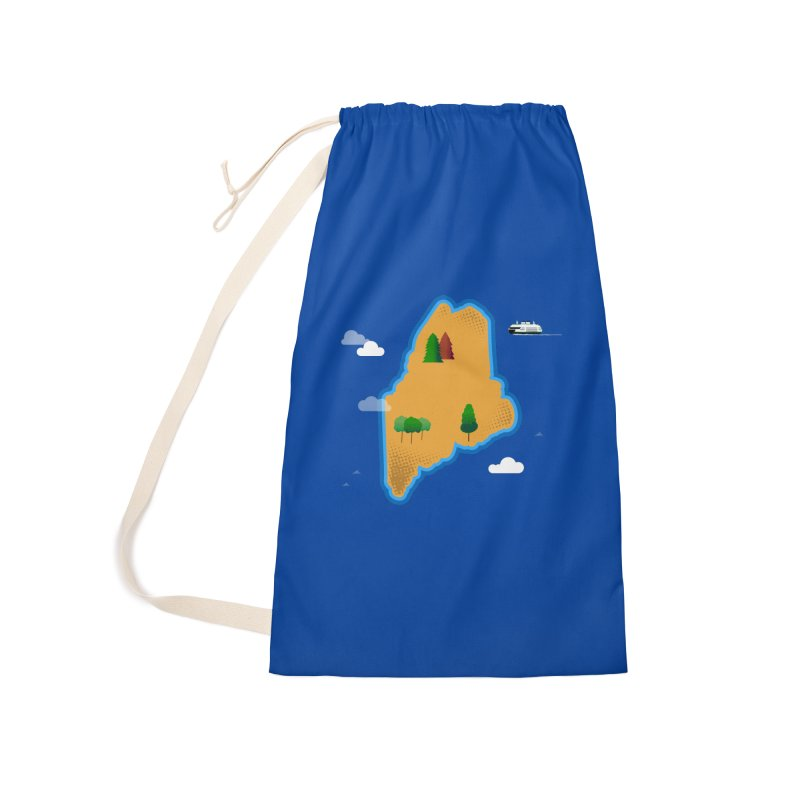 Maine Island Accessories Laundry Bag Bag by Illustrations by Phil