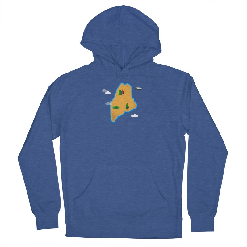 Maine Island Women's French Terry Pullover Hoody by Illustrations by Phil