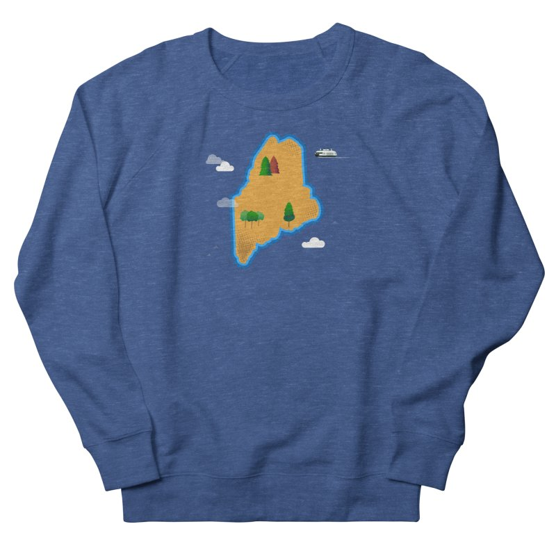 Maine Island Women's French Terry Sweatshirt by Illustrations by Phil