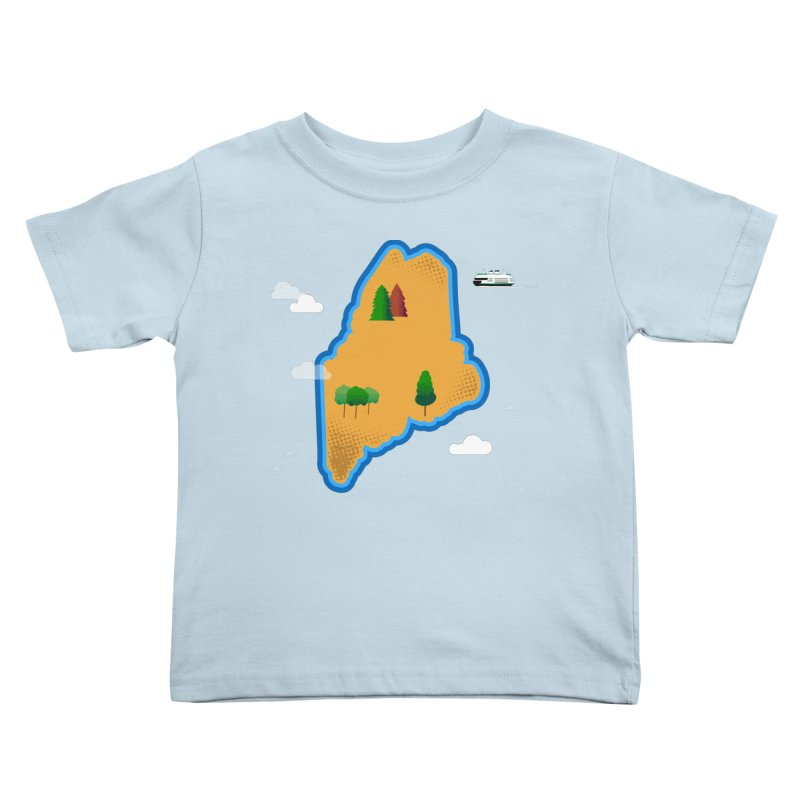 Maine Island Kids Toddler T-Shirt by Illustrations by Phil