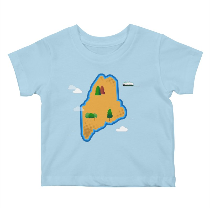 Maine Island Kids Baby T-Shirt by Illustrations by Phil