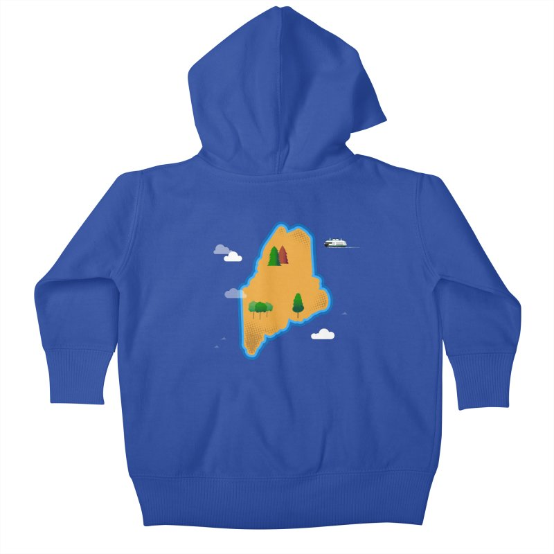 Maine Island Kids Baby Zip-Up Hoody by Illustrations by Phil