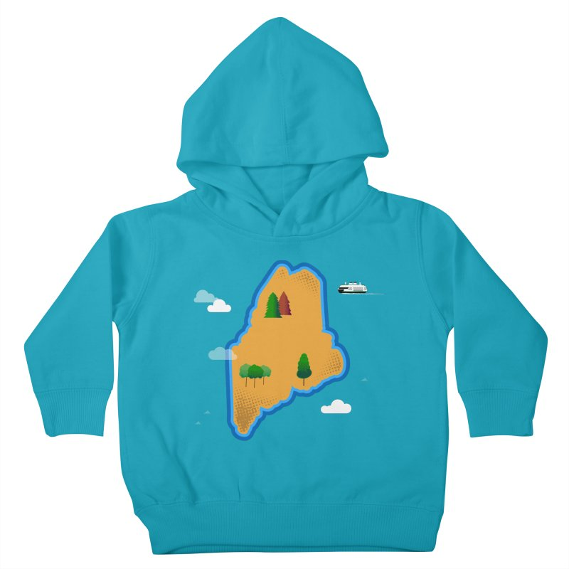 Maine Island Kids Toddler Pullover Hoody by Illustrations by Phil