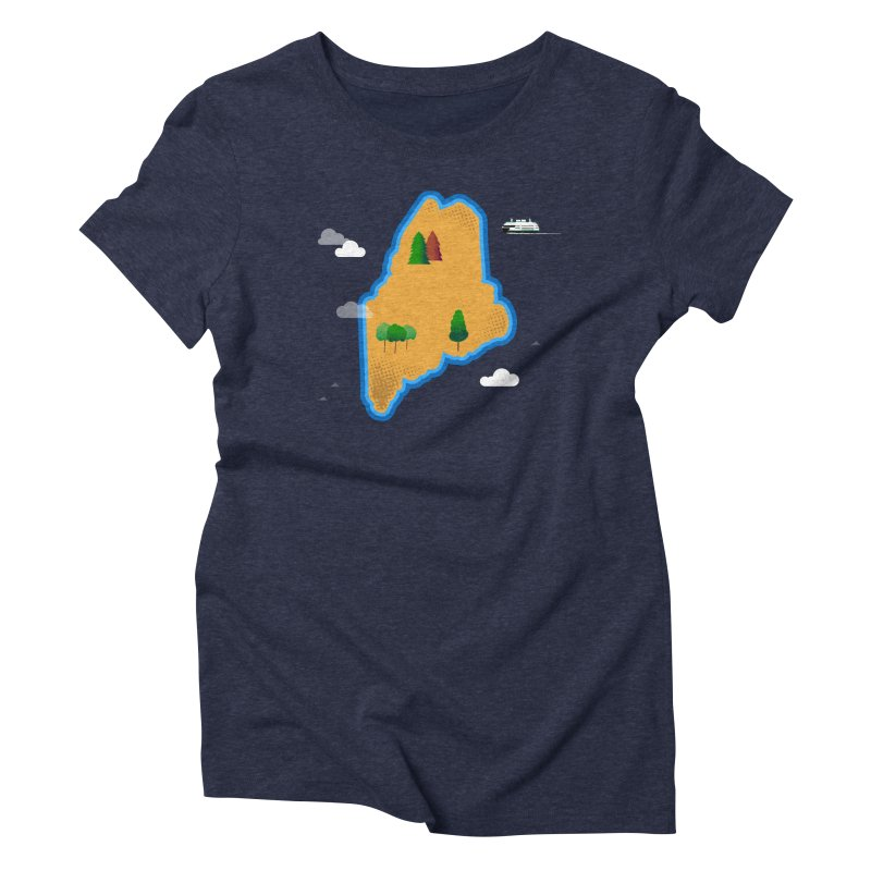 Maine Island Women's Triblend T-Shirt by Illustrations by Phil