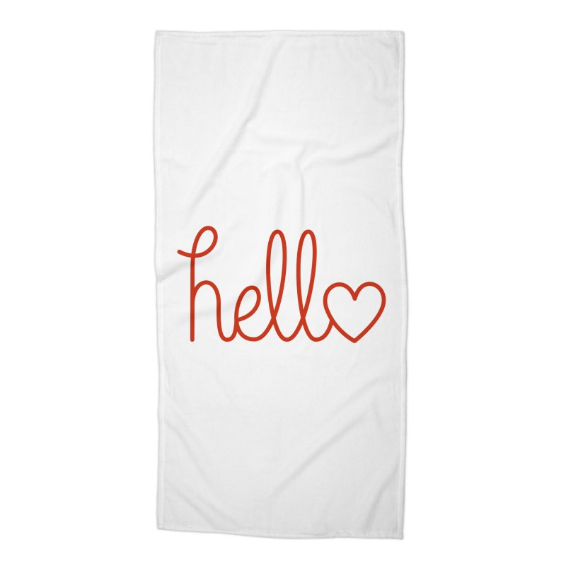 Love Letters Accessories Beach Towel by Illustrations by Phil