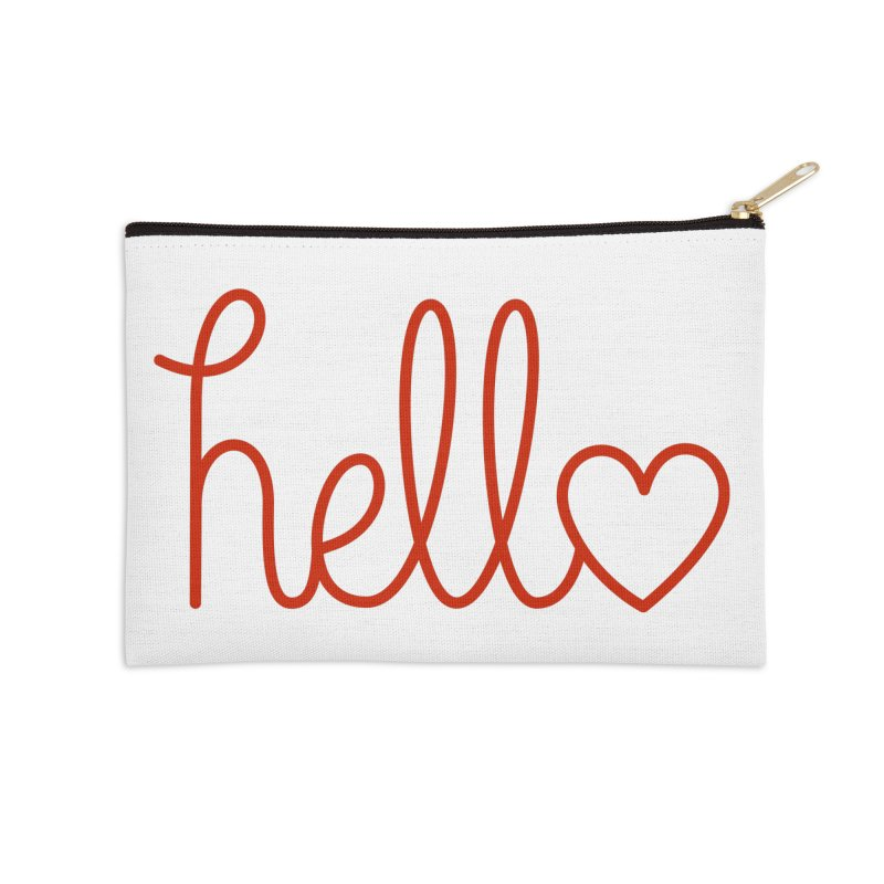 Love Letters Accessories Zip Pouch by Illustrations by Phil