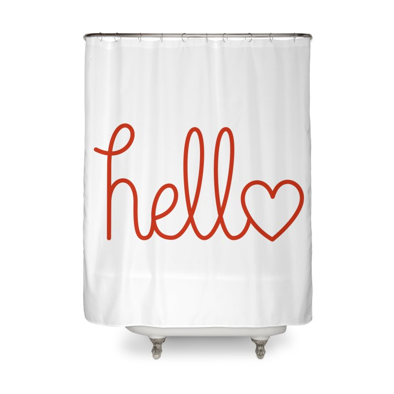 Love Letters Home Shower Curtain by Illustrations by Phil
