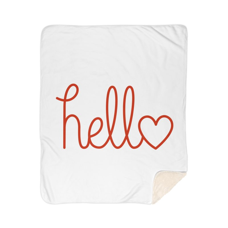 Love Letters Home Sherpa Blanket Blanket by Illustrations by Phil
