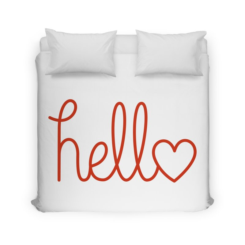 Love Letters Home Duvet by Illustrations by Phil
