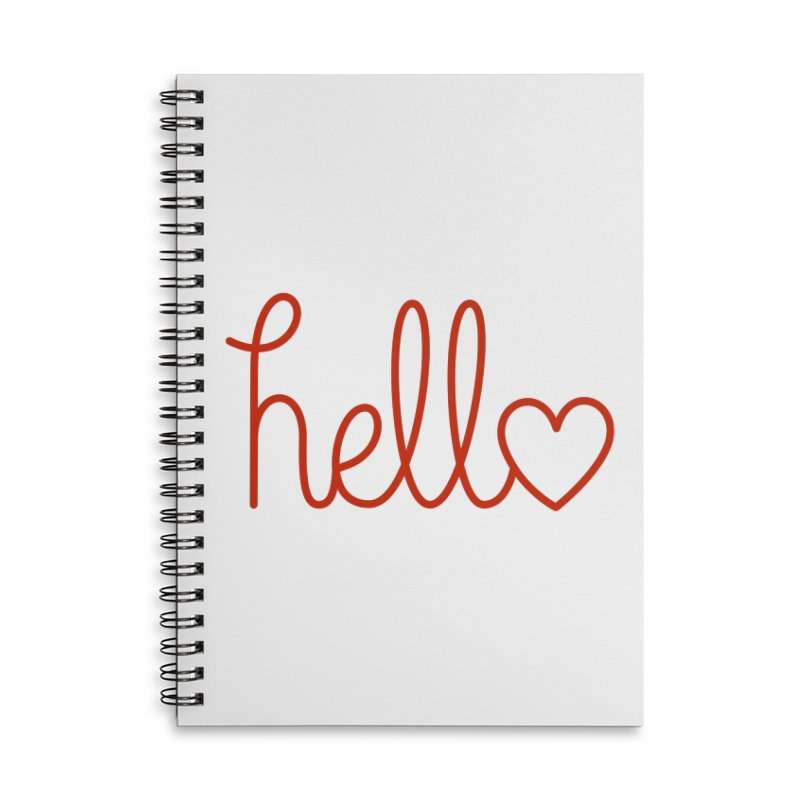 Love Letters Accessories Lined Spiral Notebook by Illustrations by Phil