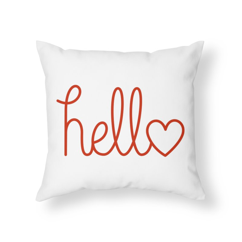 Love Letters Home Throw Pillow by Illustrations by Phil