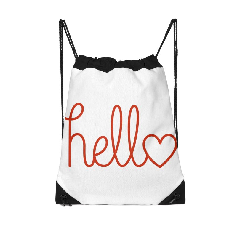 Love Letters Accessories Drawstring Bag Bag by Illustrations by Phil