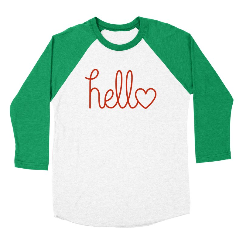 Love Letters Men's Baseball Triblend Longsleeve T-Shirt by Illustrations by Phil