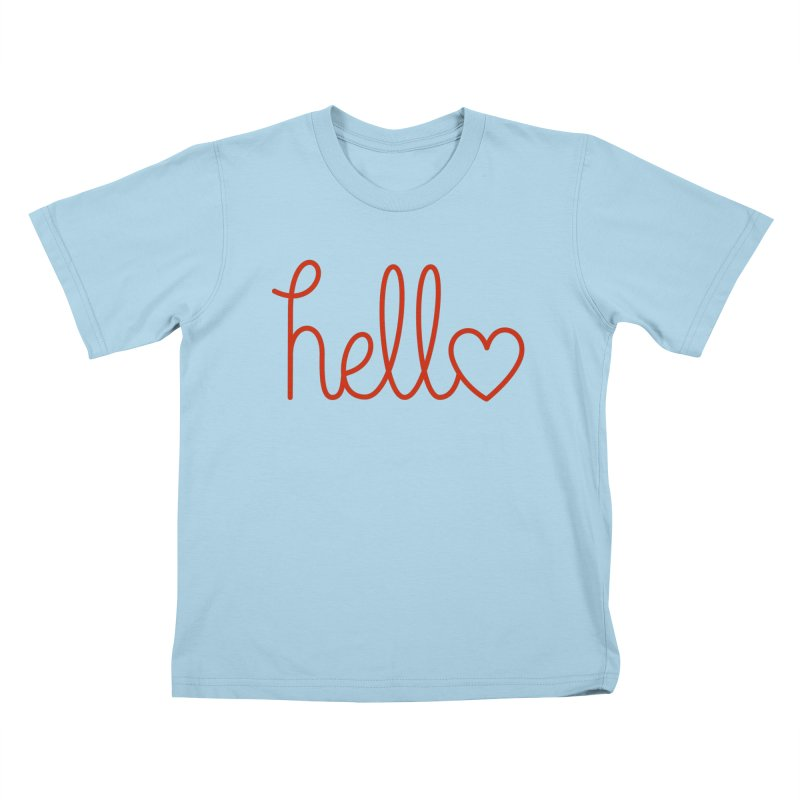 Love Letters Kids T-Shirt by Illustrations by Phil