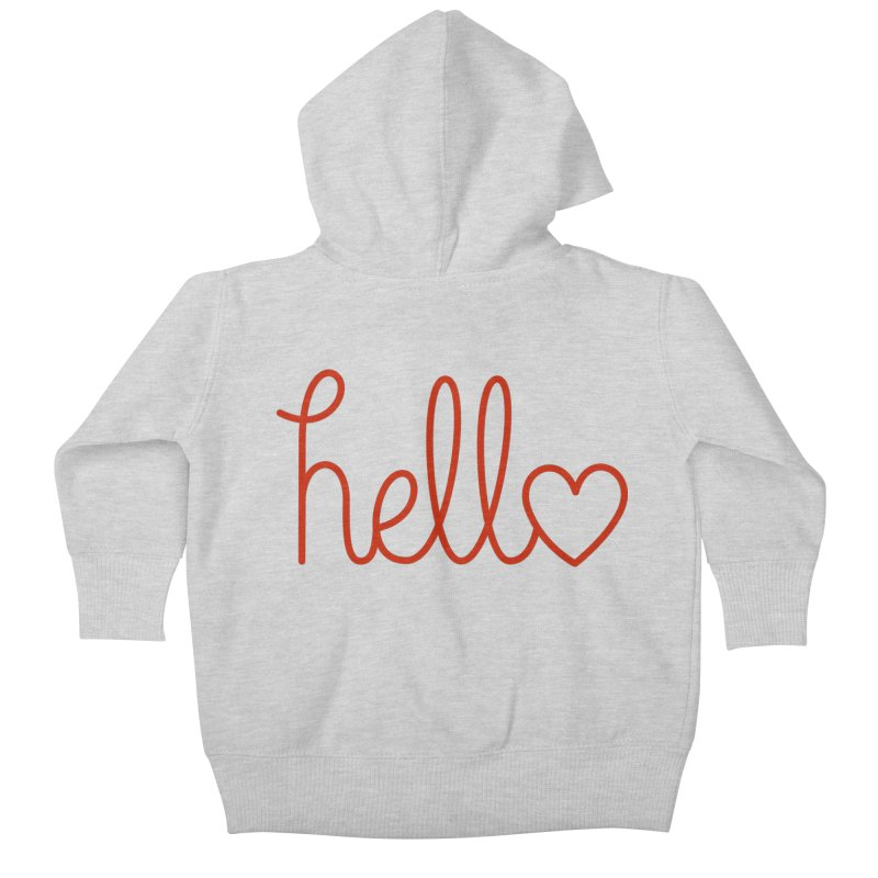 Love Letters Kids Baby Zip-Up Hoody by Illustrations by Phil