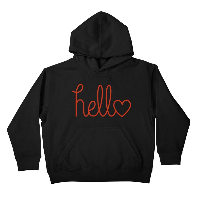 Love Letters Kids Pullover Hoody by Illustrations by Phil
