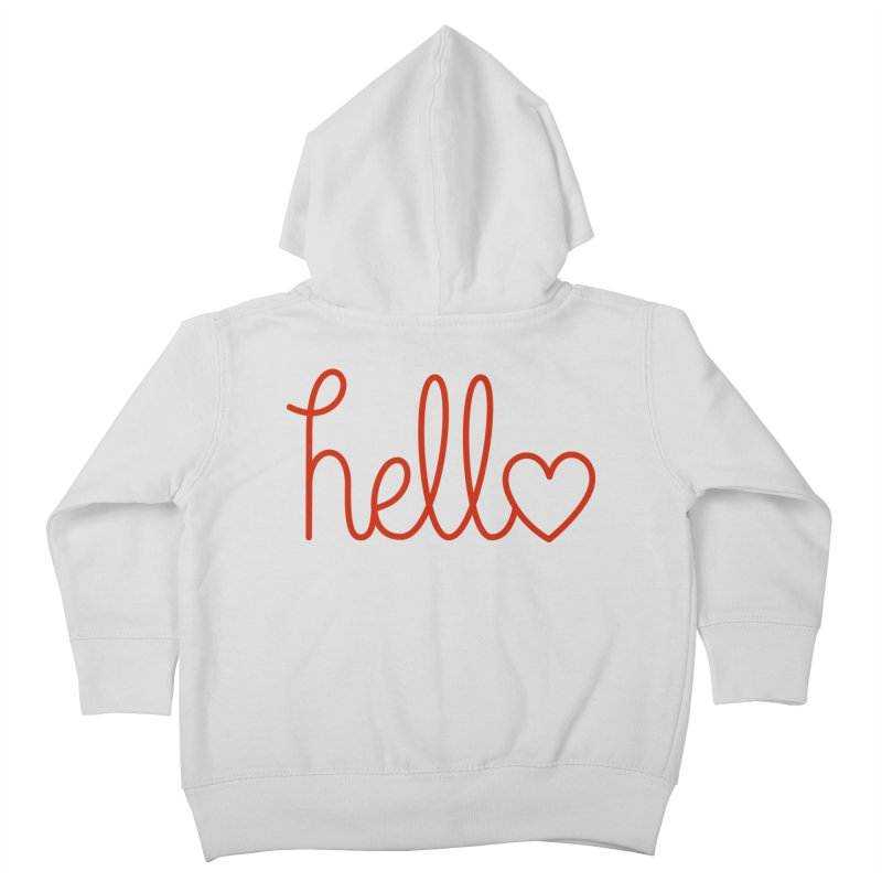 Love Letters Kids Toddler Zip-Up Hoody by Illustrations by Phil