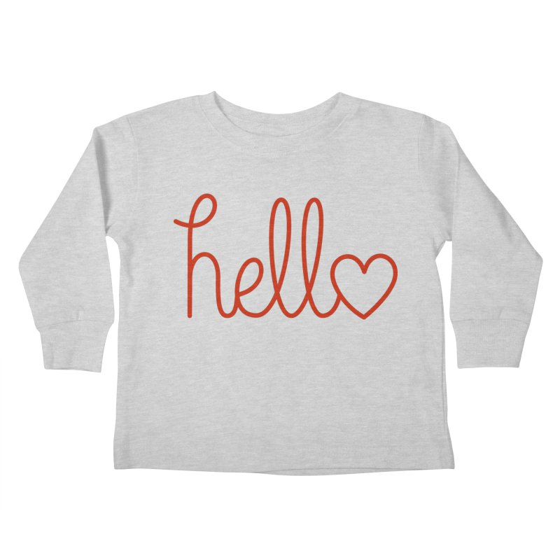 Love Letters Kids Toddler Longsleeve T-Shirt by Illustrations by Phil