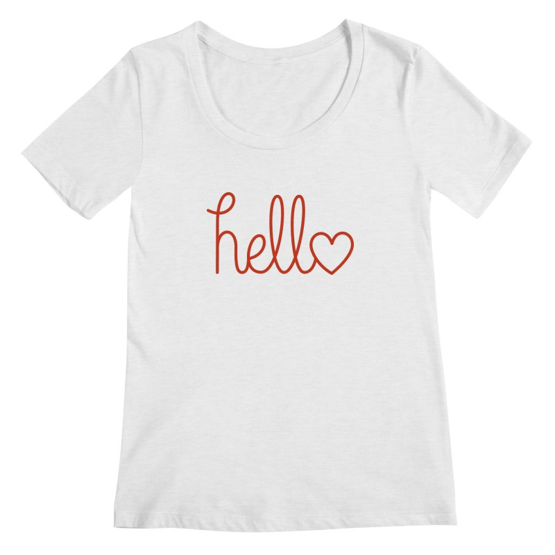 Love Letters Women's Regular Scoop Neck by Illustrations by Phil