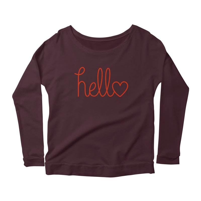 Love Letters Women's Scoop Neck Longsleeve T-Shirt by Illustrations by Phil
