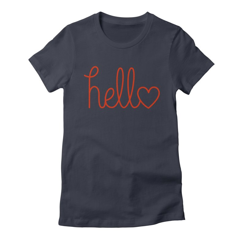 Love Letters Women's Fitted T-Shirt by Illustrations by Phil