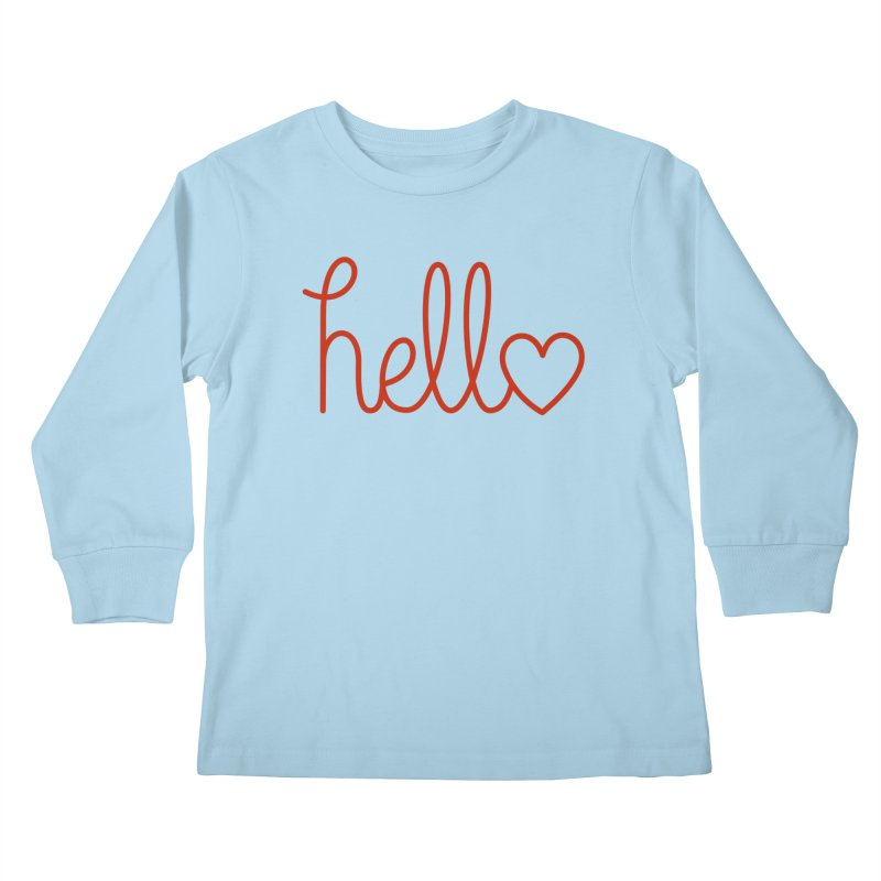 Love Letters Kids Longsleeve T-Shirt by Illustrations by Phil