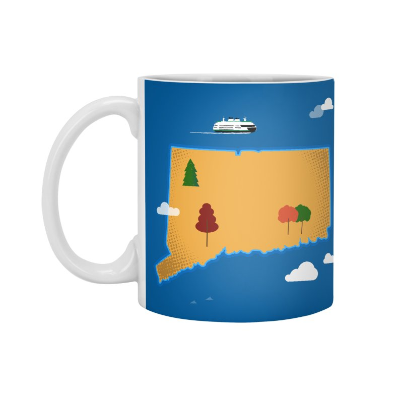 Connecticut Island Accessories Standard Mug by Illustrations by Phil