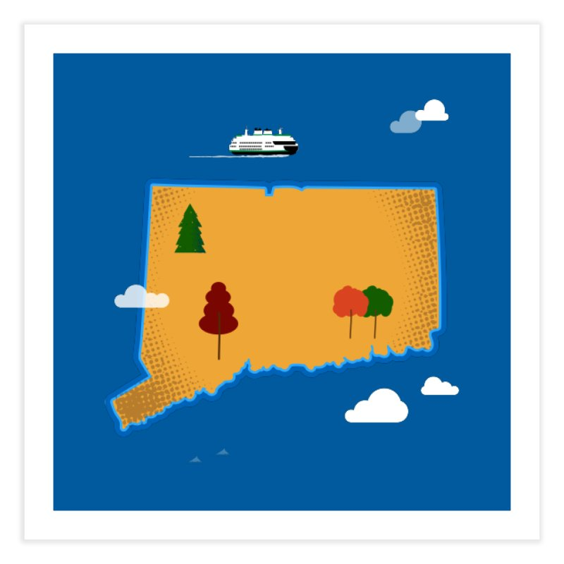 Connecticut Island Home Fine Art Print by Illustrations by Phil