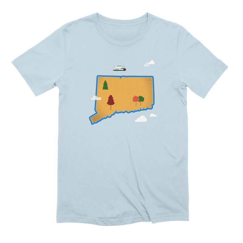Connecticut Island Men's Extra Soft T-Shirt by Illustrations by Phil