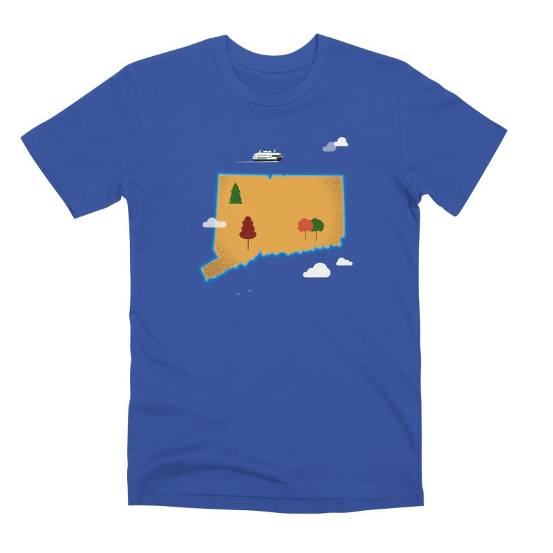 Connecticut Island Men's Premium T-Shirt by Illustrations by Phil