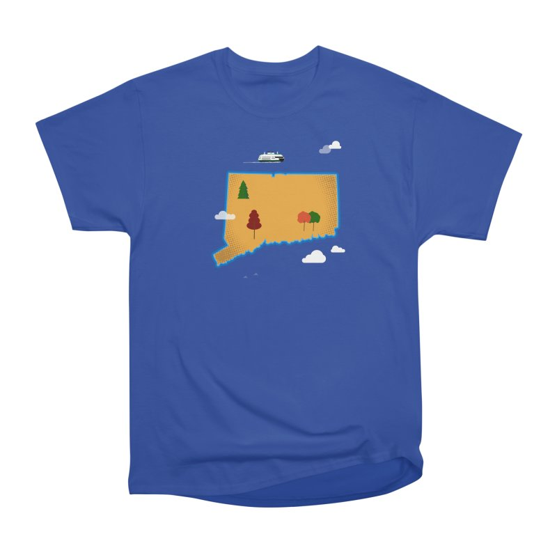 Connecticut Island Men's Heavyweight T-Shirt by Illustrations by Phil
