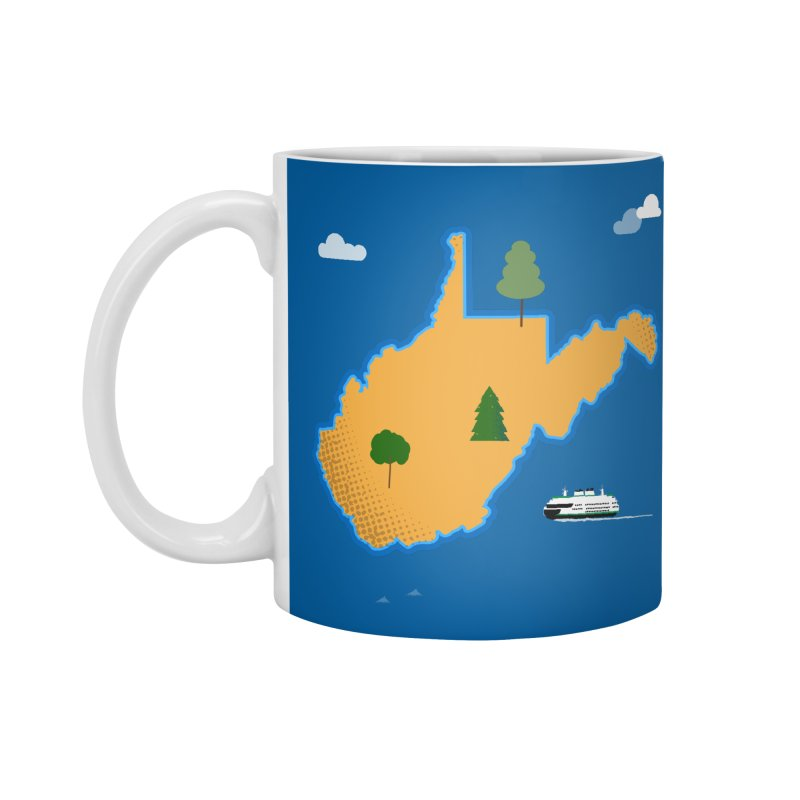 West Virginia Island Accessories Standard Mug by Illustrations by Phil