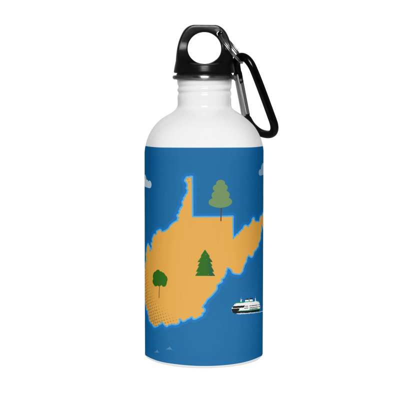 West Virginia Island Accessories Water Bottle by Illustrations by Phil