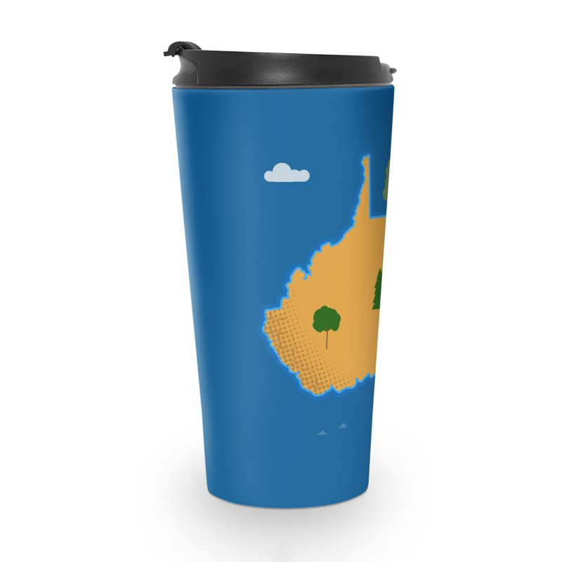 West Virginia Island Accessories Travel Mug by Illustrations by Phil