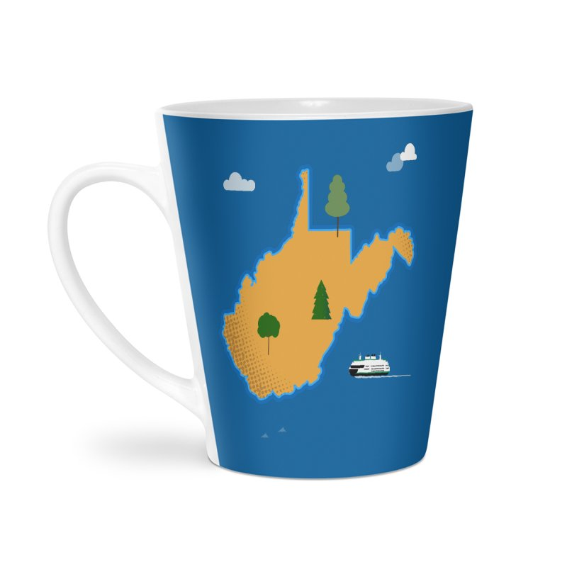 West Virginia Island Accessories Latte Mug by Illustrations by Phil