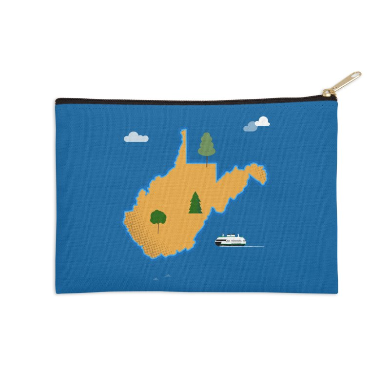 West Virginia Island Accessories Zip Pouch by Illustrations by Phil
