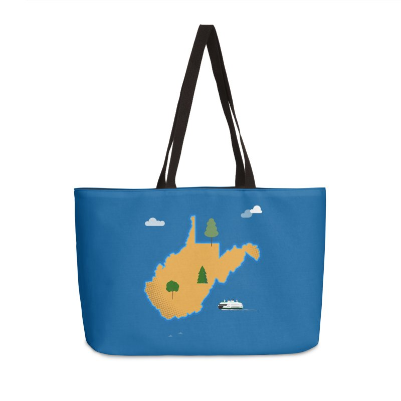 West Virginia Island Accessories Weekender Bag Bag by Illustrations by Phil