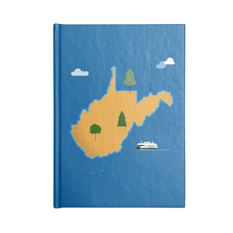 West Virginia Island Accessories Blank Journal Notebook by Illustrations by Phil
