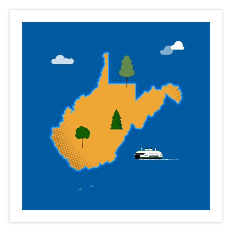 West Virginia Island Home Fine Art Print by Illustrations by Phil