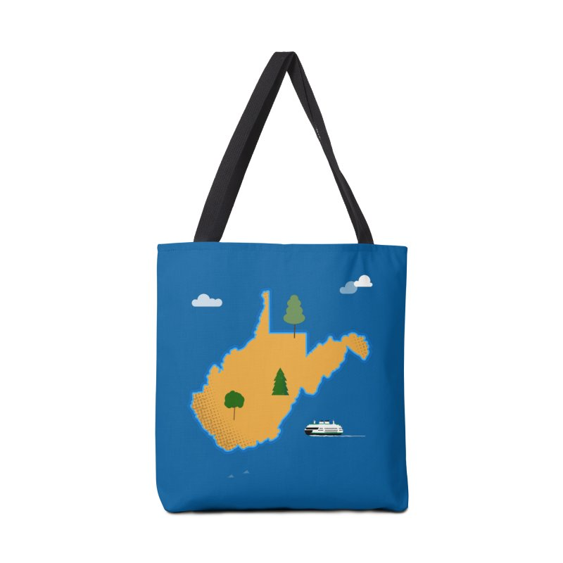 West Virginia Island Accessories Tote Bag Bag by Illustrations by Phil