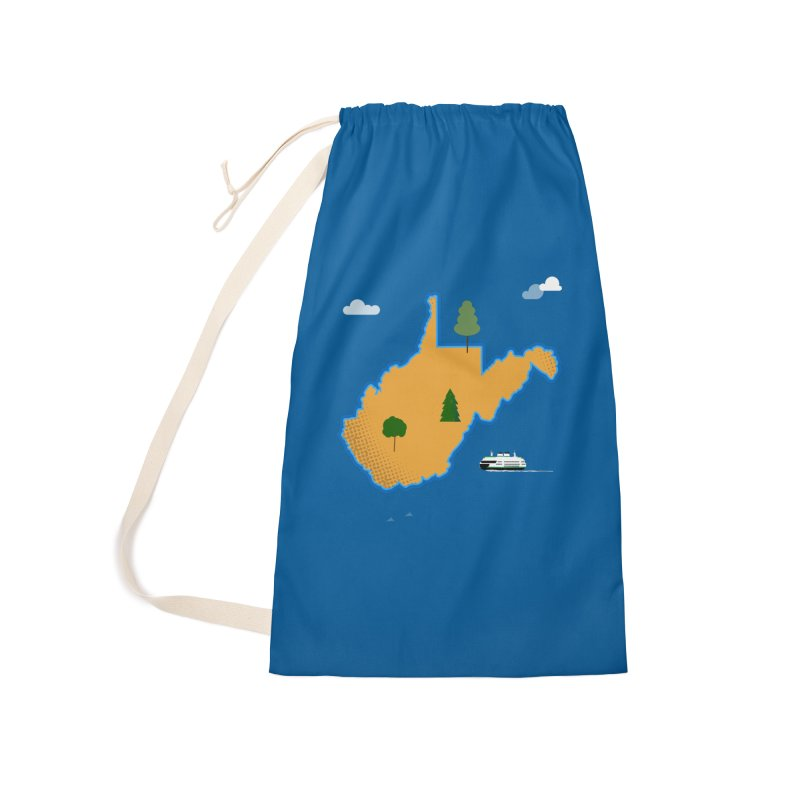 West Virginia Island Accessories Laundry Bag Bag by Illustrations by Phil