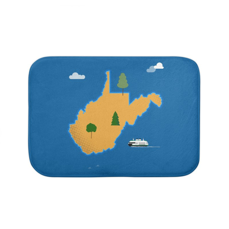 West Virginia Island Home Bath Mat by Illustrations by Phil