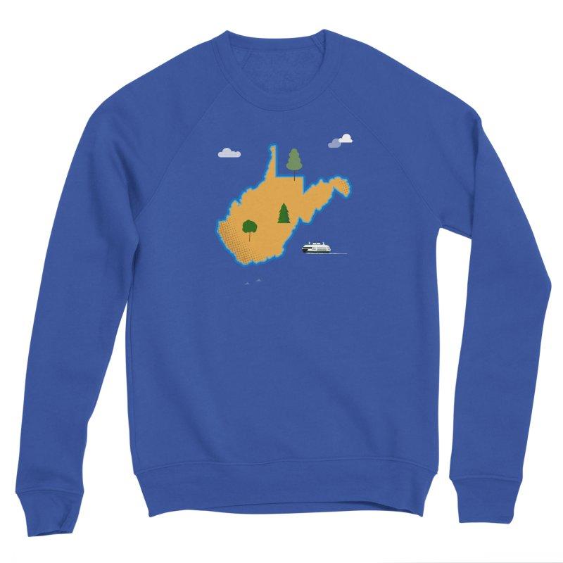 West Virginia Island Men's Sponge Fleece Sweatshirt by Illustrations by Phil