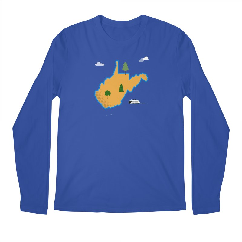 West Virginia Island Men's Regular Longsleeve T-Shirt by Illustrations by Phil