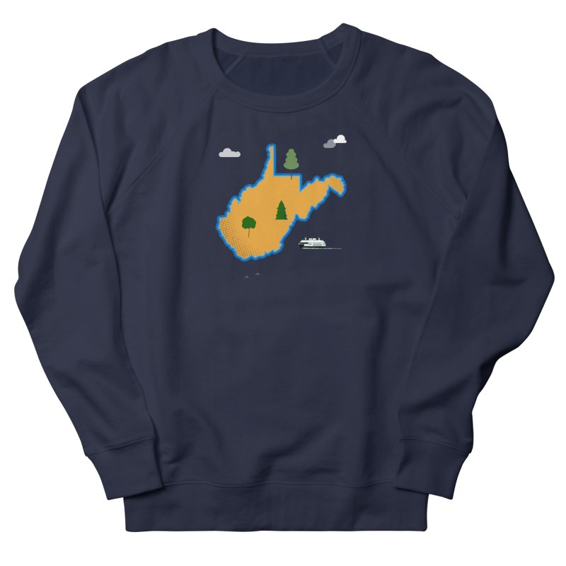 West Virginia Island Women's French Terry Sweatshirt by Illustrations by Phil